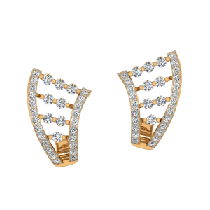 The Exotic Sync Diamond Stud Earrings