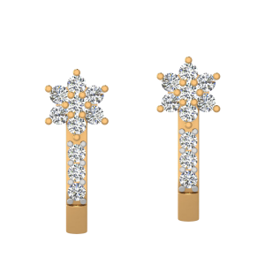 The Blooming Stars Diamond Stud Earrings