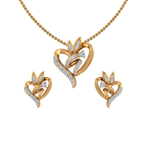 The Entwined In Love Diamond Pendant Set