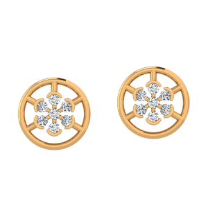 The Dazzling Center Diamond Stud Earrings