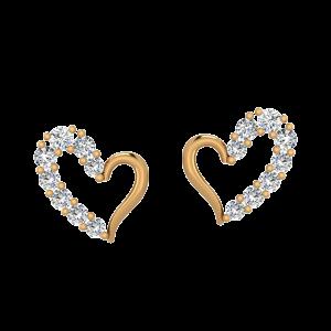 Charming Hearts Diamond Stud Earrings