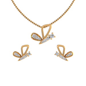 Lets Fly Diamond Pendant Set