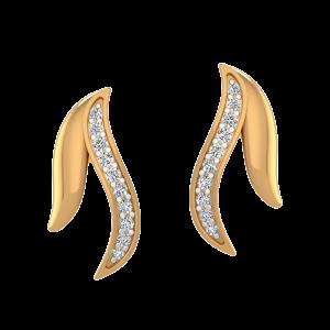 The Leaves Duet Diamond Stud Earrings
