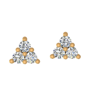 Treat Of Trio Diamond Stud Earrings
