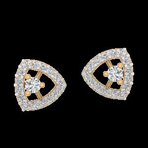 Fit To Shine Diamond Stud Earrings