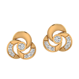 Spinning Treat Diamond Stud Earrings