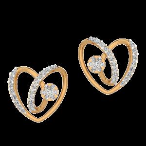 The Hearts Tango Diamond Stud Earrings