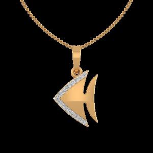 Catch The Fish Diamond Pendant