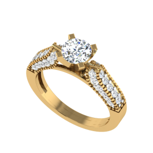 The Camhanaich Solitaire Diamond Ring
