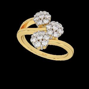 The Life`s Garden Floral Diamond Ring