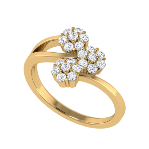 The Life`s Garden Floral Diamond Ring