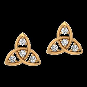 Crazy Ties Diamond Stud Earrings