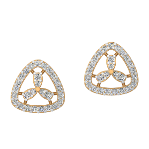 The Trillion Touch Diamond Stud Earrings