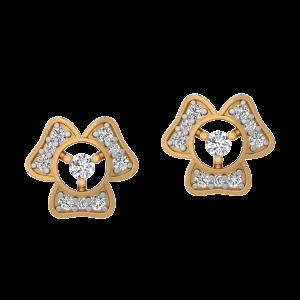Petals Grace Diamond Stud Earrings