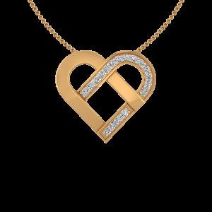 Heart Tag Diamond Pendant