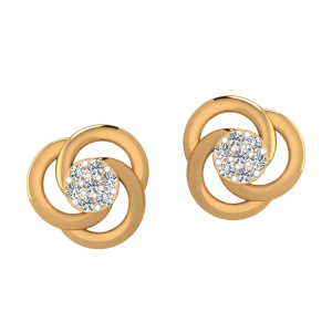 Centre De Fleurs Diamond Stud Earrings