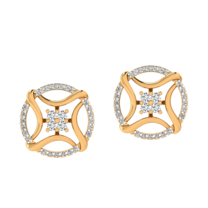 Swing N Strike Diamond Stud Earrings