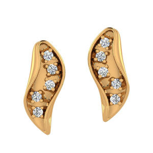 The Organic Artwork Diamond Stud Earrings