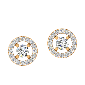 Dance N Pop Diamond Stud Earrings