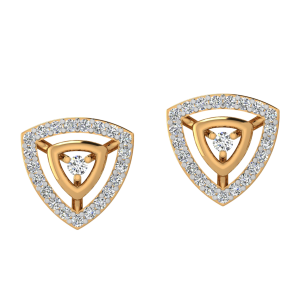 The Golden Triangle Diamond Stud Earrings