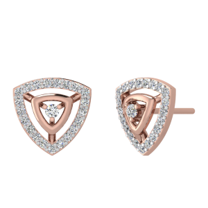 The Golden Triangle Diamond Stud Earrings