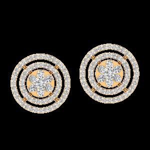 Floral Entourage Diamond Stud Earrings