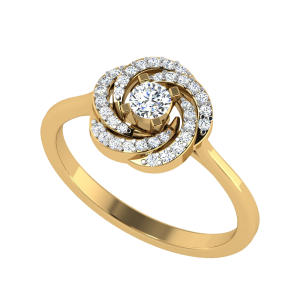 Radiating Happiness Floral Diamond Ring