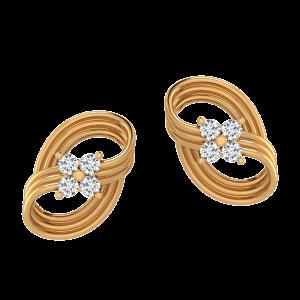 The Golden Laces Diamond Stud Earrings