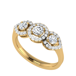 The Three Words Entourage Diamond Ring
