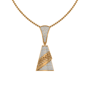 The Chandelier Drama Gold Diamond Pendant