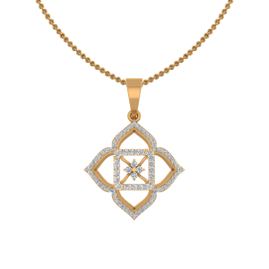 The Embedded Gold Diamond Pendant