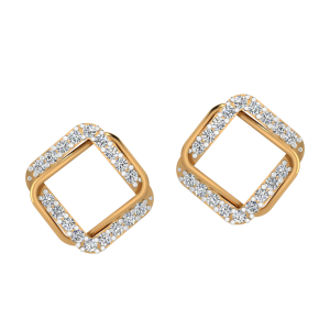 Fame & Frame Diamond Stud Earrings