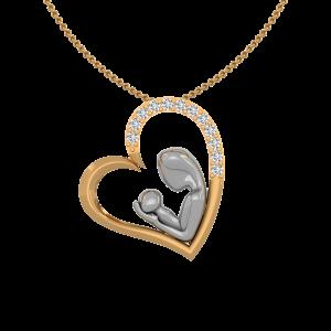 The Divine Touch Gold Diamond Pendant