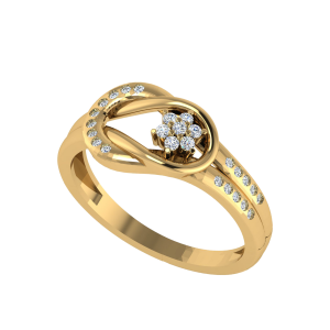 The Floret Arc Designer Diamond Ring