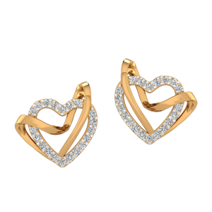 Love Overwhelmed Diamond Stud Earrings