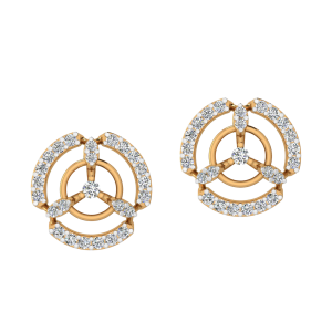Wonder Round Diamond Stud Earrings