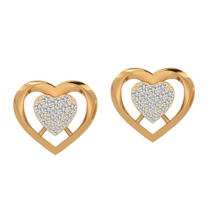 The Heart Beat Diamond Stud Earrings