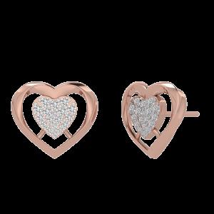 The Heart Beat Diamond Stud Earrings