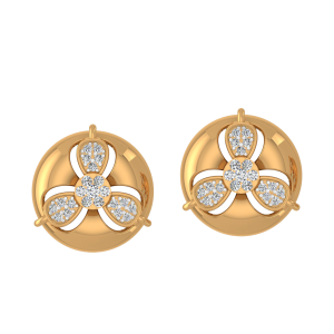 The Golden Orbits Diamond Stud Earrings