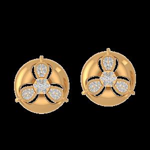 The Golden Orbits Diamond Stud Earrings