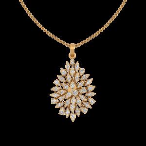 The Burning Desire Gold Diamond Pendant