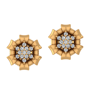 Petals Dazzle Diamond Stud Earrings