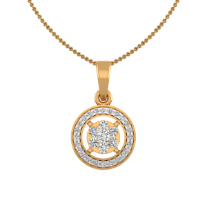 The Nirvana Gold Diamond Pendant