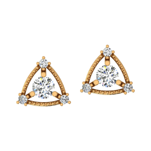 Lovely Phase Diamond Stud Earrings