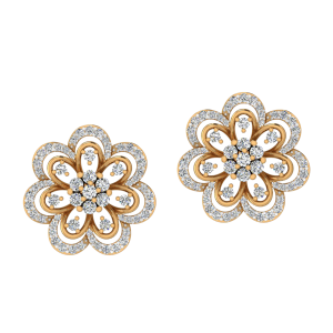 The Floroscence Diamond Stud Earrings