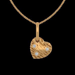 Dash & Flash Gold Diamond Heart Pendant