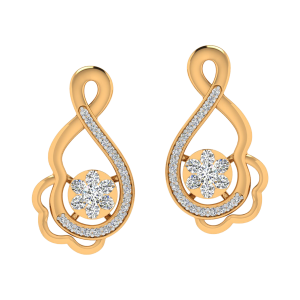 Curvy Affair Diamond Stud Earrings