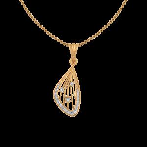 The Playful Plaid Gold Diamond Pendant