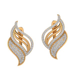 The Crossover Diamond Stud Earrings