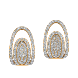 Standing Ovation Diamond Stud Earrings